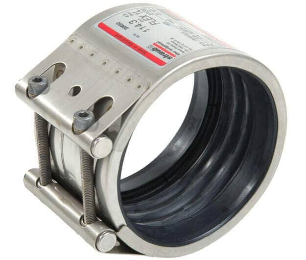 Flex type coupling designed to repair pipes. Axially-flexible type coupling.