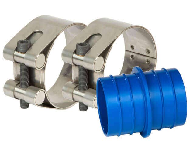 Straub Plast-Pro PE pipe joining couplings with pipe insert